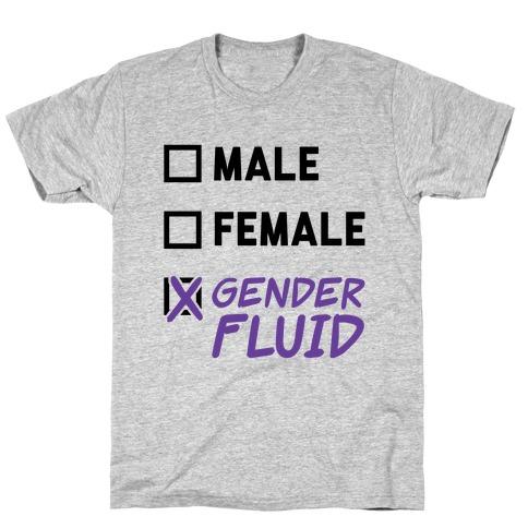 Gender Fluid Checklist T-Shirt