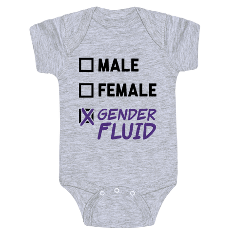 Gender Fluid Checklist Baby Onesy