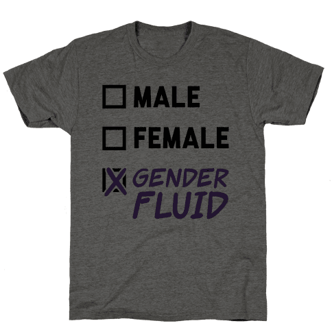 Gender Fluid Checklist Mens T-Shirt