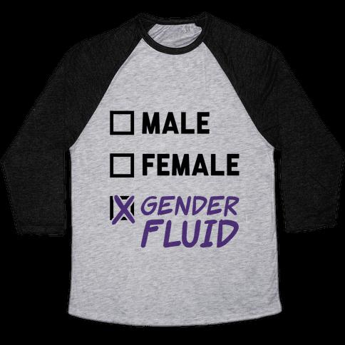 Gender Fluid Checklist Baseball Tee