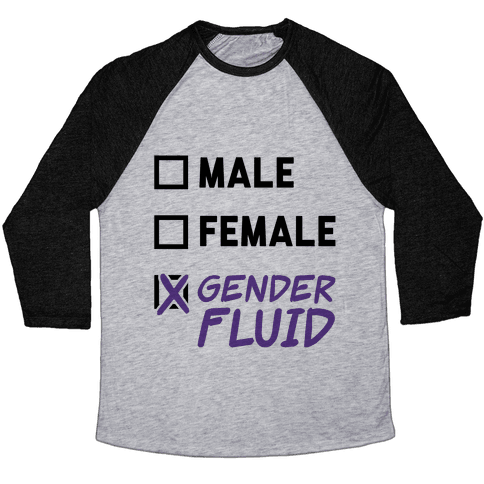 Gender Fluid Checklist Baseball Tee