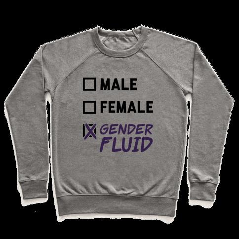 Gender Fluid Checklist Pullover