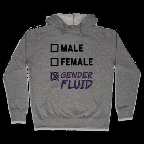 Gender Fluid Checklist Hooded Sweatshirt