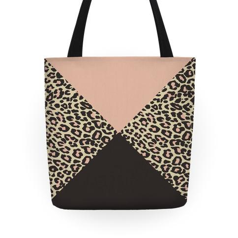 Leopard Triangle Tote Tote