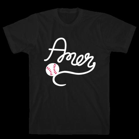 Baseball, Amen (Tank) Mens T-Shirt