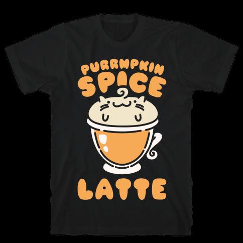 Purrmpkin Spice Latte Mens T-Shirt