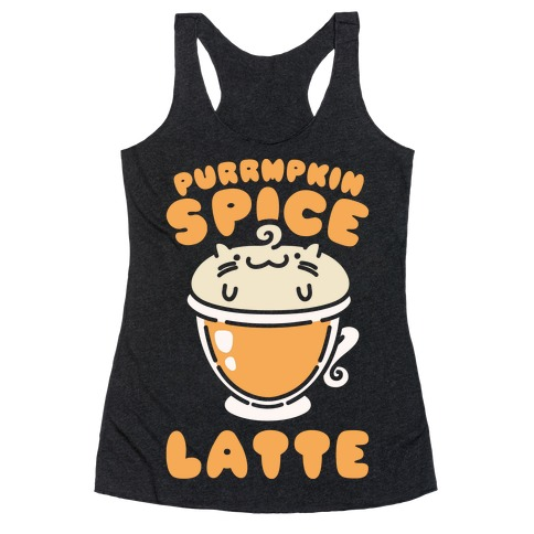 Purrmpkin Spice Latte Racerback Tank Top