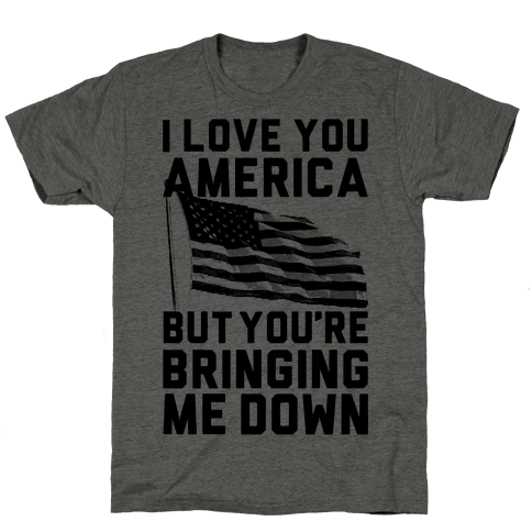 I Love You America Mens T-Shirt