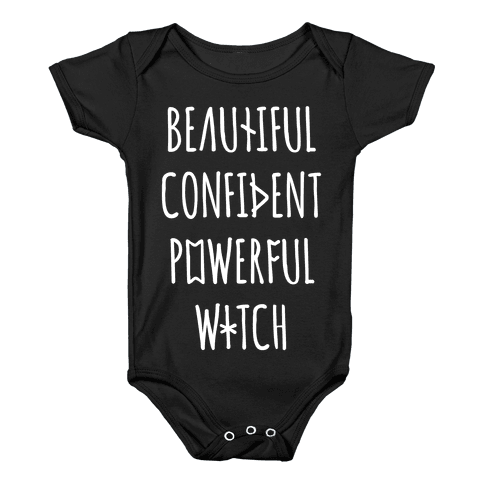 Beautiful Confident Powerful Witch Baby Onesy