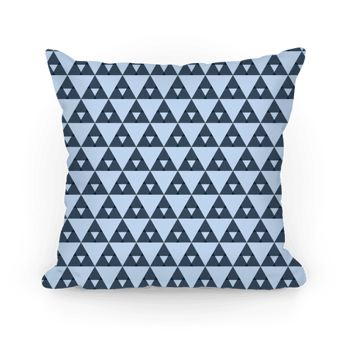 Navy Triangles Pattern Pillow