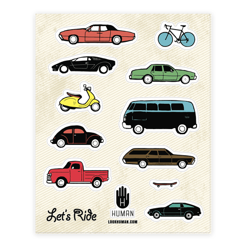 Let's Ride Transpo  Sticker/Decal Sheet