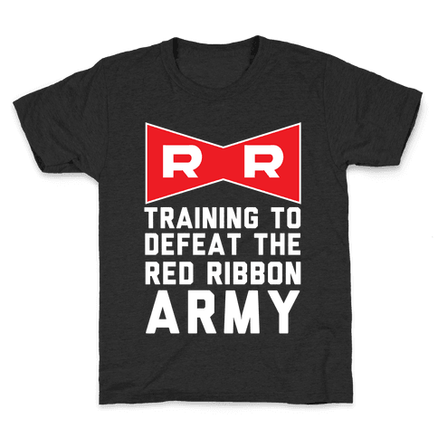Training To Defeat The Red Ribbon Army Kids T-Shirt