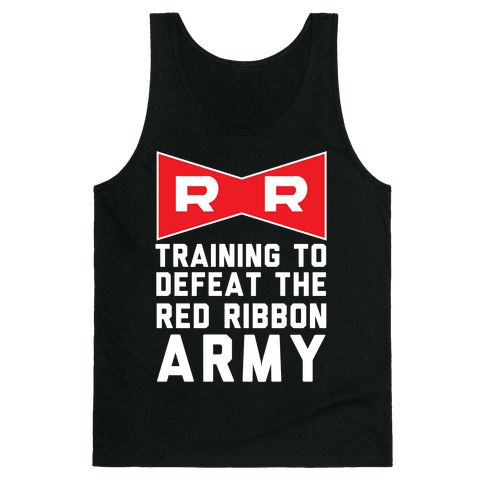 Training To Defeat The Red Ribbon Army Tank Top