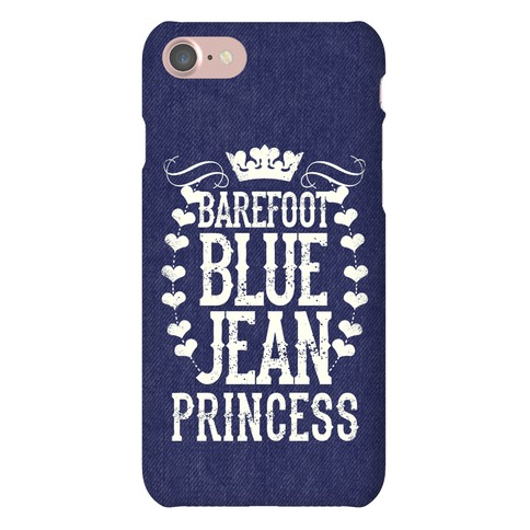 Barefoot Blue Jean Princess Phone Case