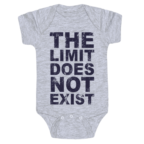 The Limit Does Not Exist (Tank) Baby Onesy