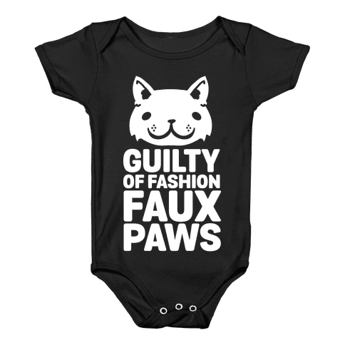 Guilty of Fashion Faux Paws Baby Onesy