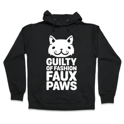 Guilty of Fashion Faux Paws Hooded Sweatshirt