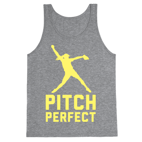Softball Pitch Perfect Tank Top