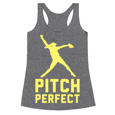 Softball Pitch Perfect Racerback Tank Top