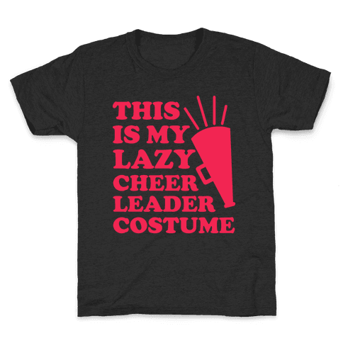 This is My Lazy Cheerleader Costume Kids T-Shirt