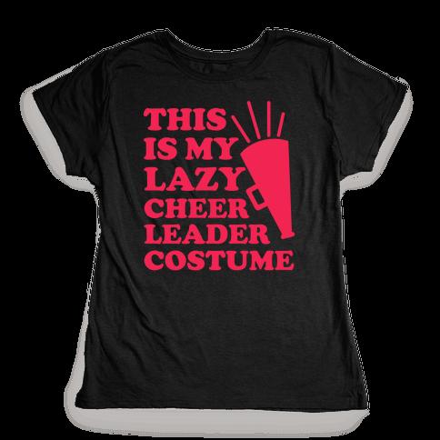 This is My Lazy Cheerleader Costume Womens T-Shirt