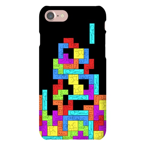 Tetris Cats Fail Pattern Phone Case