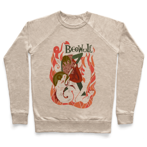 Medieval Epic Beowulf Book Cover Pullover