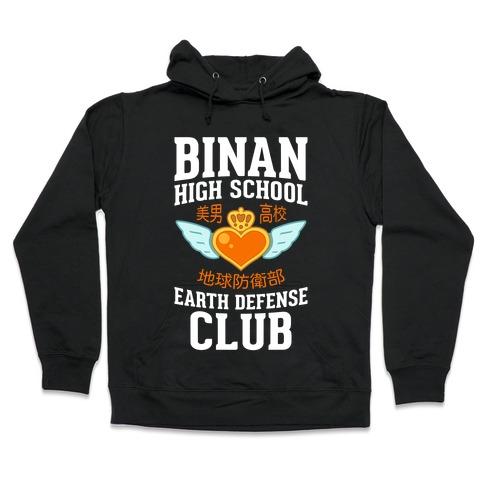 Binan High School Earth Defense Club (Orange) Hooded Sweatshirt
