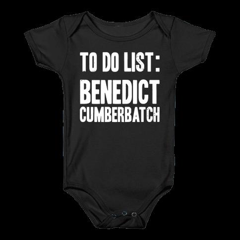 To Do List Benedict Baby Onesy