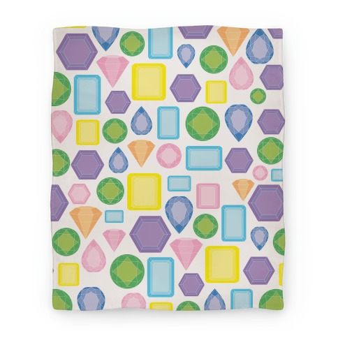 Pastel Gem Pattern Blanket