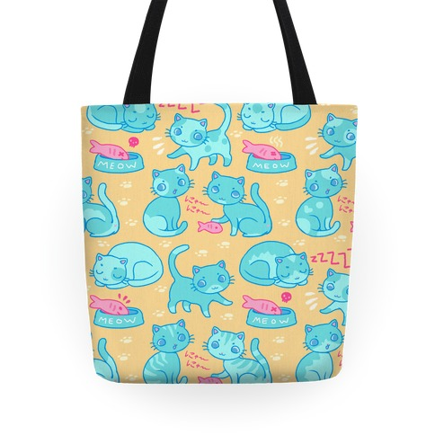 Cutie Cat pattern Tote