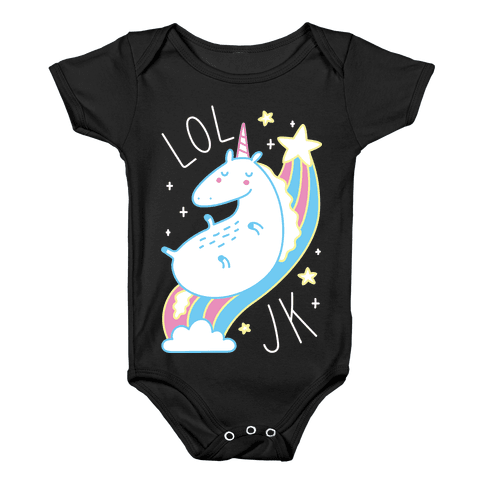LOL JK Unicorn Baby Onesy