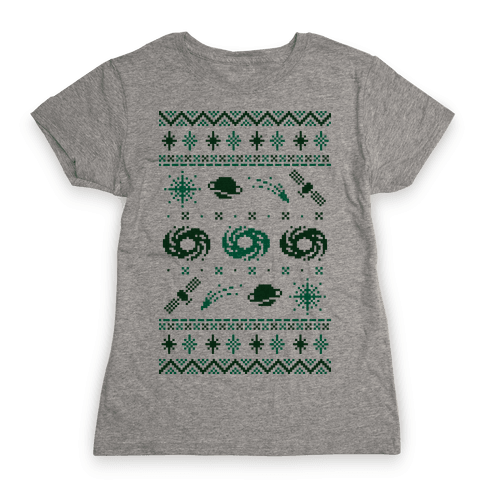 Interstellar Christmas Sweater Pattern Womens T-Shirt