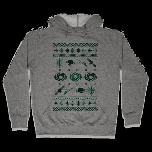Interstellar Christmas Sweater Pattern Hooded Sweatshirt