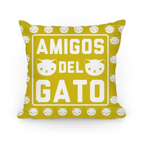 Amigos Del Gato Pillow