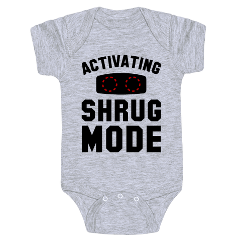 Activating Shrug Mode Baby Onesy
