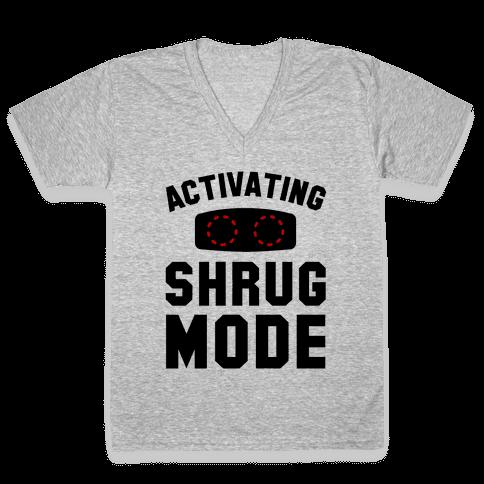 Activating Shrug Mode V-Neck Tee Shirt