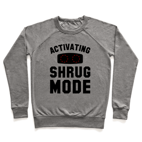 Activating Shrug Mode Pullover
