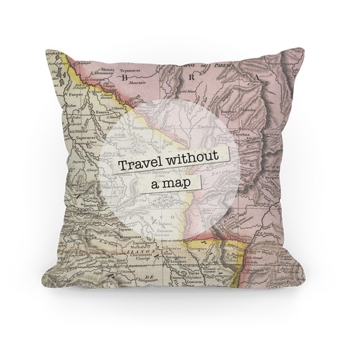 Travel Without A Map Pillow