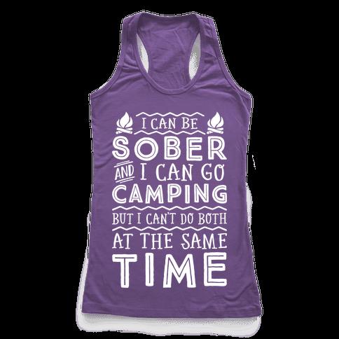 Sober Camping Racerback Tank Top