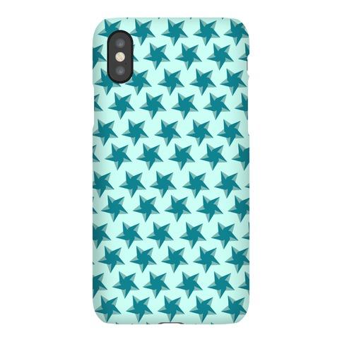 Teal Star Pattern Phone Case