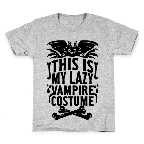 This Is My Lazy Vampire Costume Kids T-Shirt