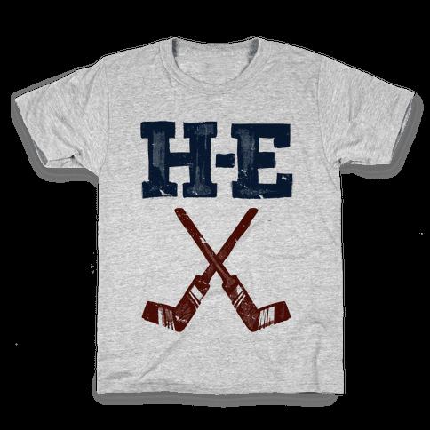 H E Double Hockey Sticks (Hell) Kids T-Shirt