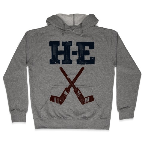 H E Double Hockey Sticks (Hell) Hooded Sweatshirt