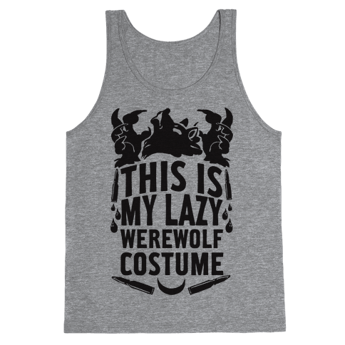 This Is My Lazy Werewolf Costume Tank Top