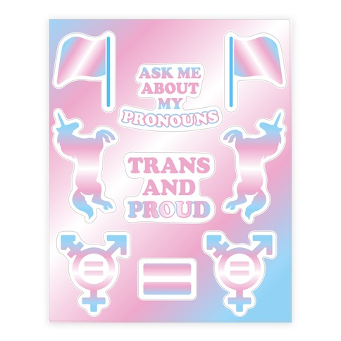 Trans Pride  Sticker/Decal Sheet