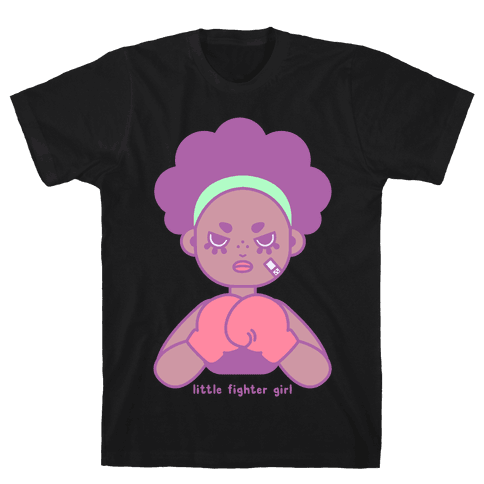 Little Fighter Girl Mens T-Shirt