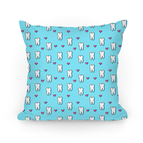 Blue Tooth Pattern Pillow