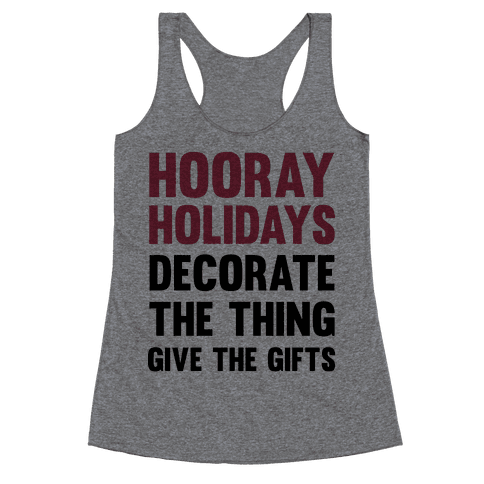 Hooray Holidays Racerback Tank Top