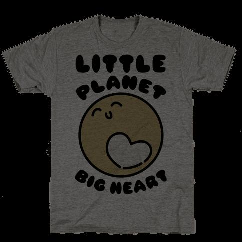 Little Planet Big Heart Mens T-Shirt